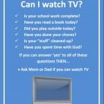 Mom, Can I Watch TV? {Free Printable}