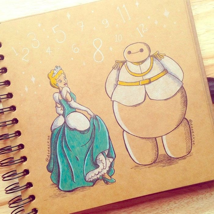 Best Baymax Images On Pinterest Baymax Drawing Drawings And Draw - Baymax imagined famous disney characters