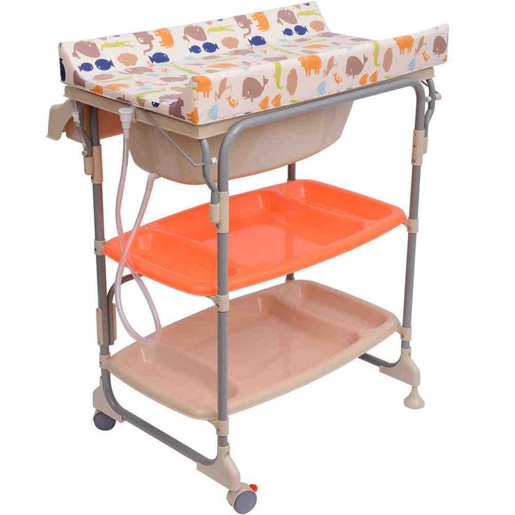 Bath And Nappy Changing Combination Unit With Storage Space. Changing  Station With Comfortable Padded Changing Mattress. Including A Bath Tub  Which Can Be ...