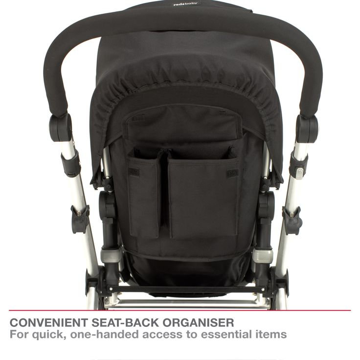 Redsbaby Bounce - The Ultimate All-In-One Stroller/ Pram www.redsbaby.com.au Designed with a convenient seat-back organiser, you can have quick, one-handed access to essential items
