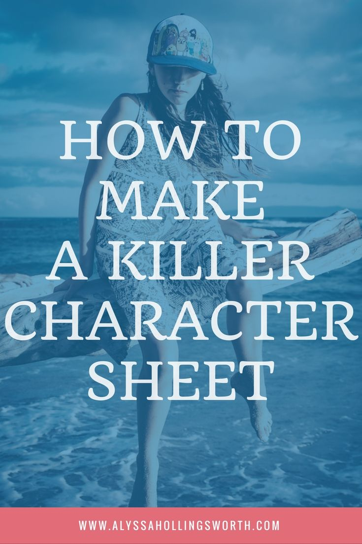How to Make a Killer Character Sheet: A tutorial with pictures!