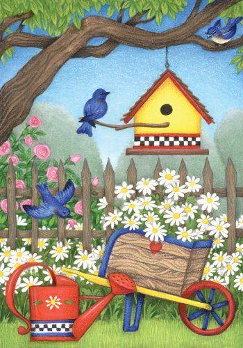 Toland Home Garden Birdhouse Daisies 28 x 40-Inch Decorat... http://www.amazon.com/dp/B004AHLLZM/ref=cm_sw_r_pi_dp_3lYpxb1BJYZ1R