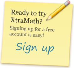 Great FREE web program to reinforce the basic math facts, starting with addition, then subtraction, multiplication and division. Quick practice once a day helps solidify the skills.