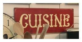 Plaque Deco Cuisine Rouge Déco Campagne Chic Rétro Campagne - Boutique déco traditionnelle : vases, luminaires, accessoires de cuisine, plantes : Cosy déco