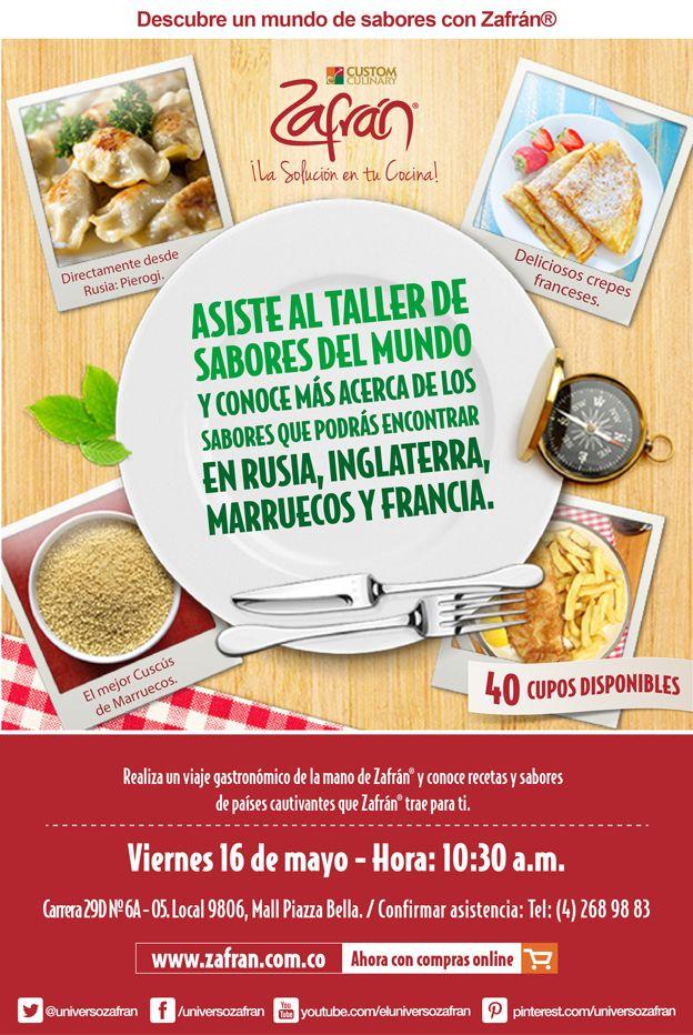 Taller de sabores del mundo.Descarga el recetario de este taller http://www.zafran.com.co/taller-de-sabores-del-mundo/