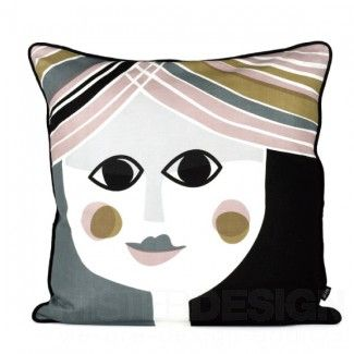 Mrs. Cushion - Ferm Living  | Verleihen Sie Ihrem Sofa einen neuen und absolut trendigen Look mit einem unserer stilvollen Kissen von Ferm Living.  Das Kissen Mrs. Cushion ist aus hochwertiger Seide gefertigt und mit Daunen gefüllt.