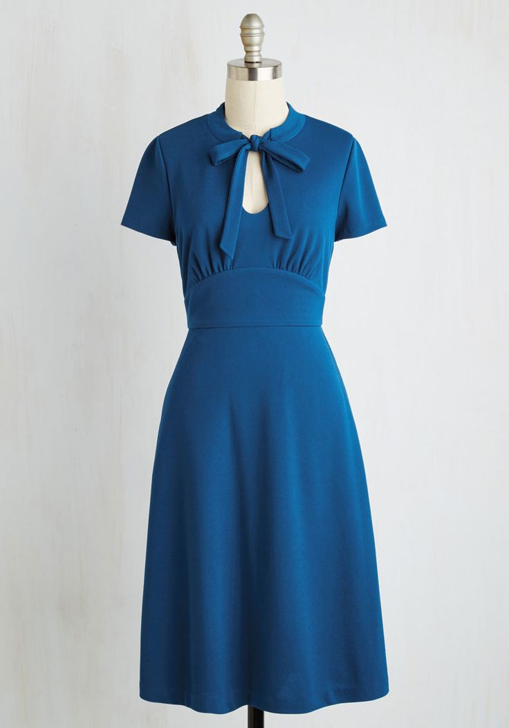 Archival Revival Dress in Lake Blue