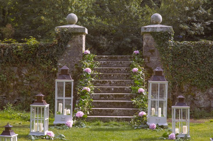 Stylish Outdoor wedding ceremony