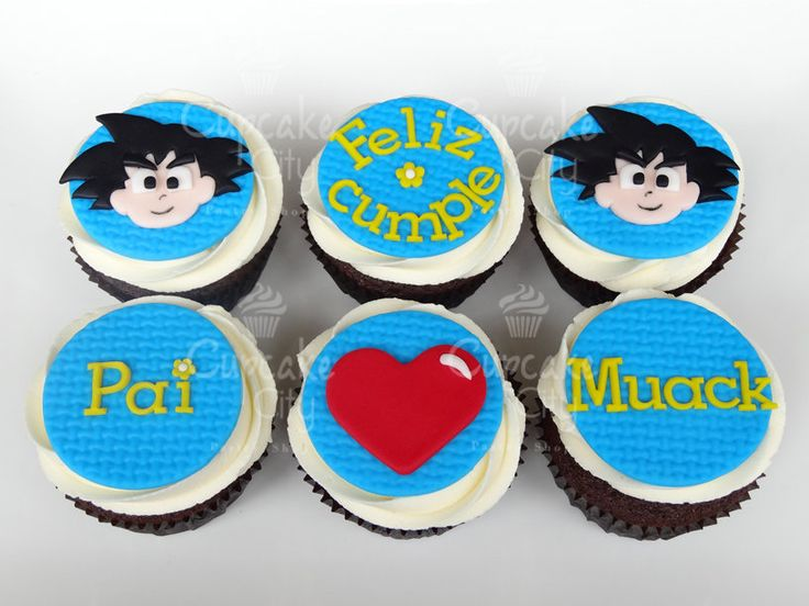 Goku Cupcakes by CupcakeCity | Cupcakes | Pinterest