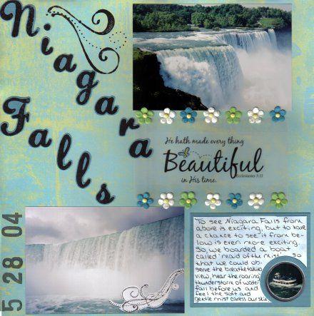 79 best niagara falls scrapbooking images on pinterest for Waterfall design in scrapbook