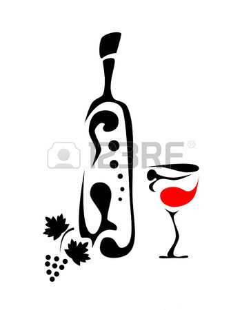 Stock Photo Ombres Chinoises En 2019 Verre De Vin Art
