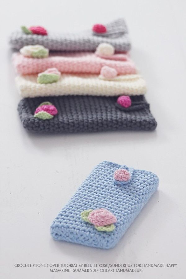 Cómo tejer una cubierta del iphone - hacer clic a través de patrón de crochet libre