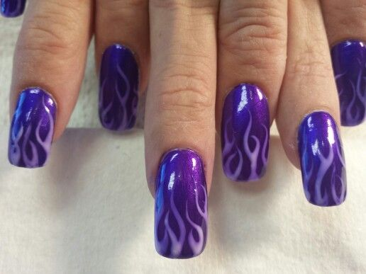 Oldschool flaming nails