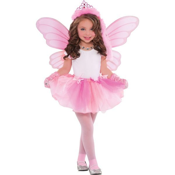 Let Your Little Ballerina Princess Flounce And Flit In Our Fairy Costume Girls Features A Pink Tutu Butterfly Wings
