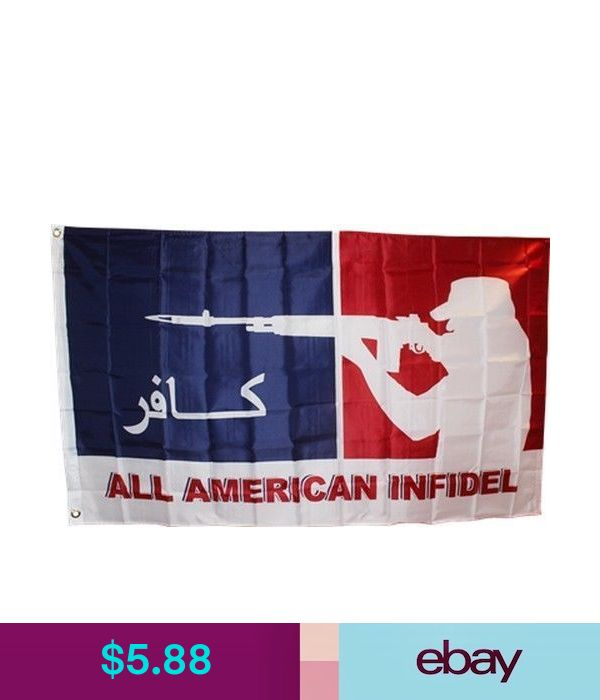 All American Infidel Flag 3x5 ft Arabic /& English Veteran Vet Iraq Afghanistan