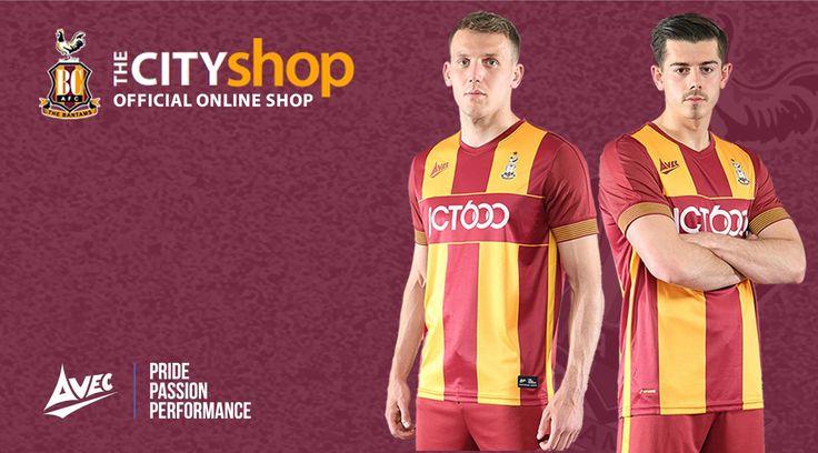 Camisas do Bradford City 2017-2018 Avec Sports