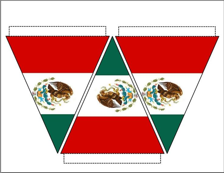 Mexico Flag Pennants/Bunting. Print, cut out, and hang ...