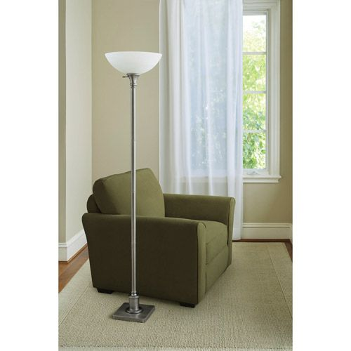 our floor lamp, brushed nickel and glass | living room spruce up | Pi ...