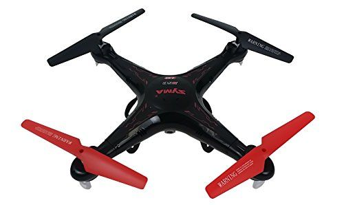 Syma X5C Quadcopter Drone with HD Camera and extra battery in exclusive Black/Red design