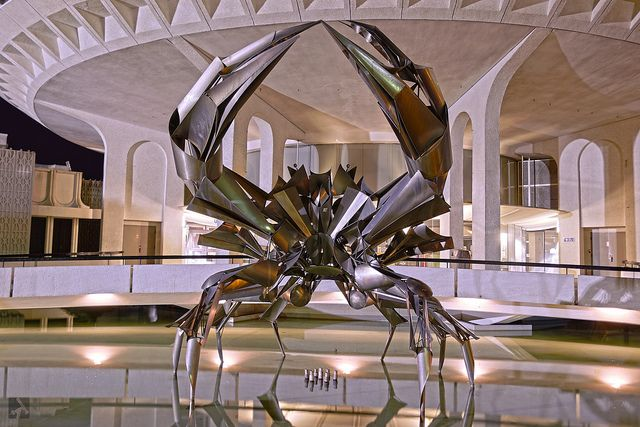 Crab Sculpture in front of the Museum of Vancouver and Planetarium in Kitsilano.