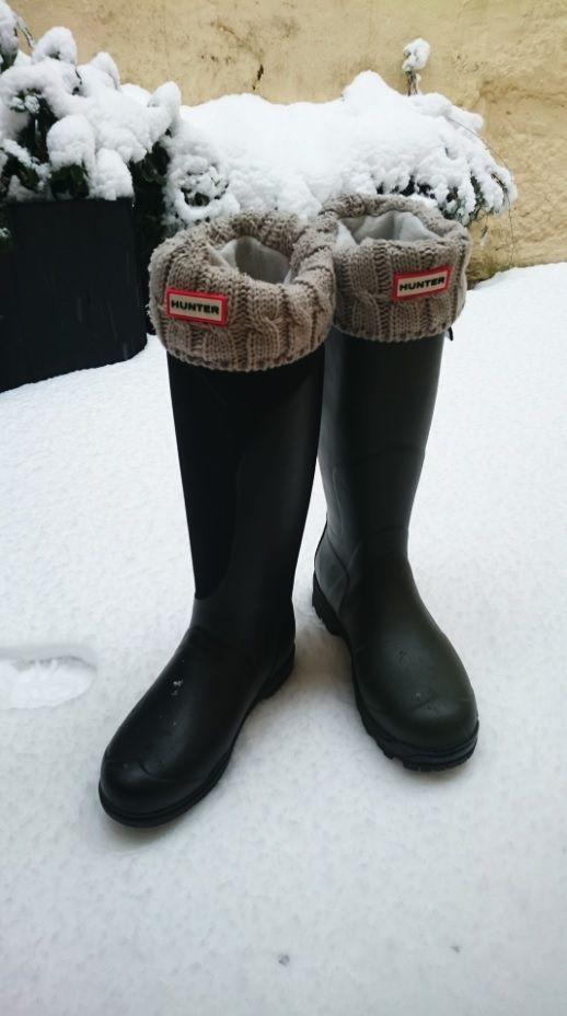#Gummistiefel und weiche #Stiefelsocken von #HUNTER #Boots
