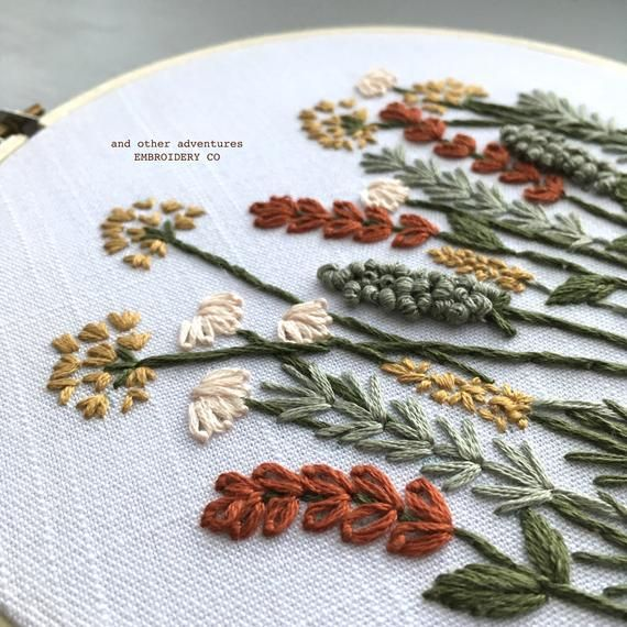 Modern Hand Embroidery KIT – Autumn Meadow DIY Embroidery Hoop by And Other Adventures Embroidery Co