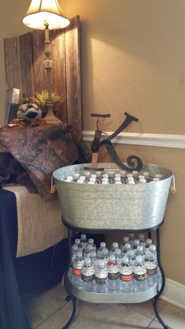 Rehearsal dinner/Duck Hunting theme Water bucket