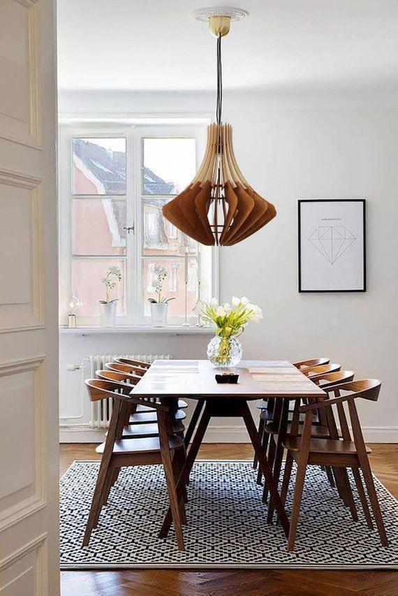 Wood Pendant Light Nordic Ceiling Lamp Dining Hanging Light