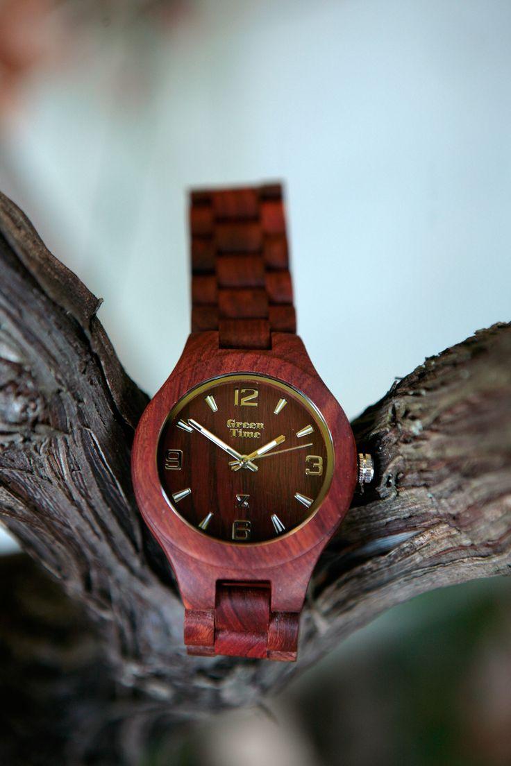 Orologio GreenTime modello basic in legno di sandalo.  Bello di natura!