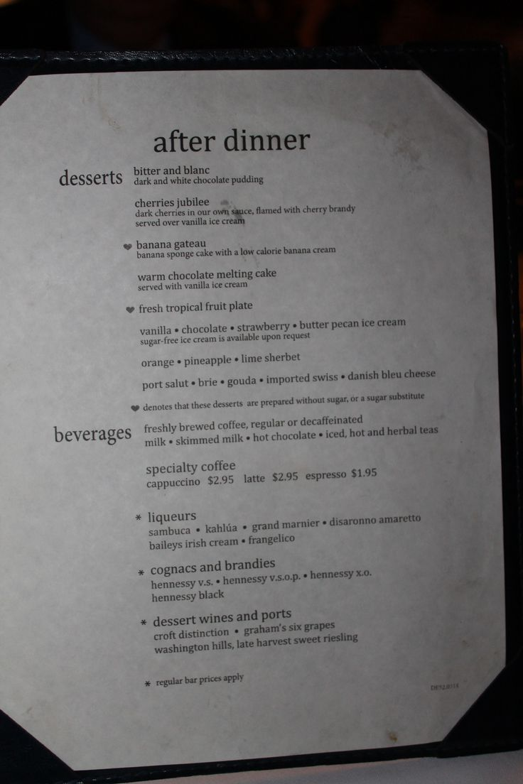 After Dinner Menu Carnival Triumph Cruise November 2014 Pinterest Best Cruises Ideas