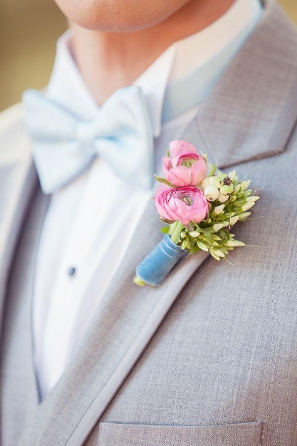 tiny blossom boutonniere // photo by JenFujPhotography.com