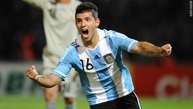 """Sergio Leonel """"Kun"""" Agüero del Castillo.  striker for Manchester City and the Argentine national team."""