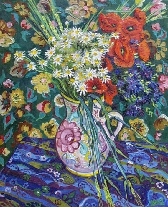 Vase with Flowers, Vincent van Gogh