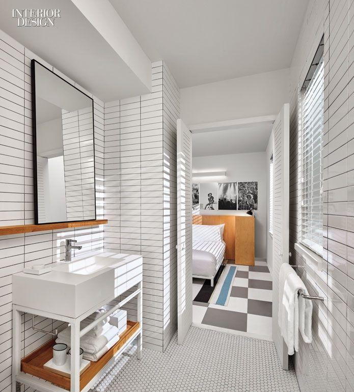 The Asbury Hotel By Anda Andrei And Bonetti/Kozerski Architecture  Celebrates The Jersey Shore. Bathroom InteriorDesign BathroomWallpaper PasteBunk  ...