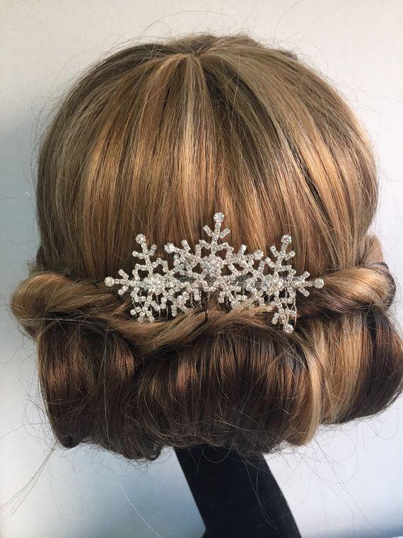 strass vintage slide perle paillettes FLEUR silver bridal hair comb