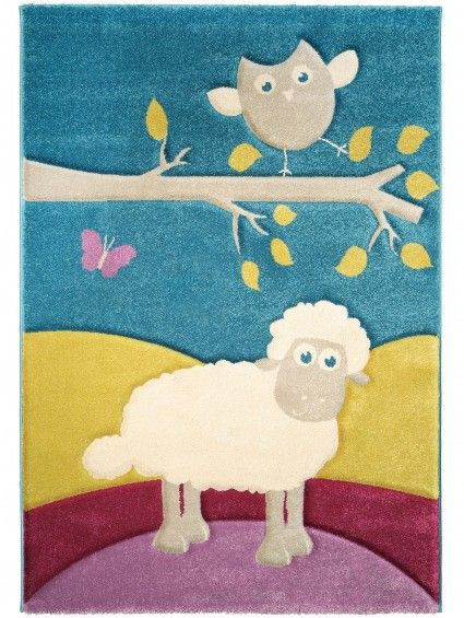 Covor Copii Owl and Sheep  http://www.sunnahome.ro/copii/copii-sintetic/covor-owl-sheep-multicolor