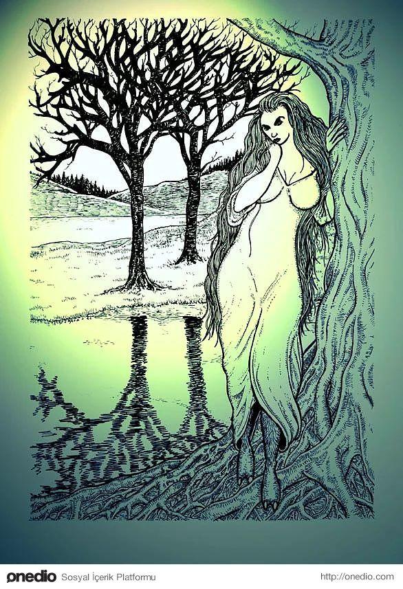Glaistig (Kelt Mitolojisi): İskoç halkının inanışında yarı keçi yarı kadın formunda sarı saçlı koyu renk tenli güzel kadın formunda bir su ruhunun adı olup vücudunun keçi tarafını yeşil bir elbisenin ardında saklamaktadır. Bazı hikâyelerde dans edip şarkı söyleyerek kendine çektiği kurbanlarının kanını emdiği anlatılmaktadır