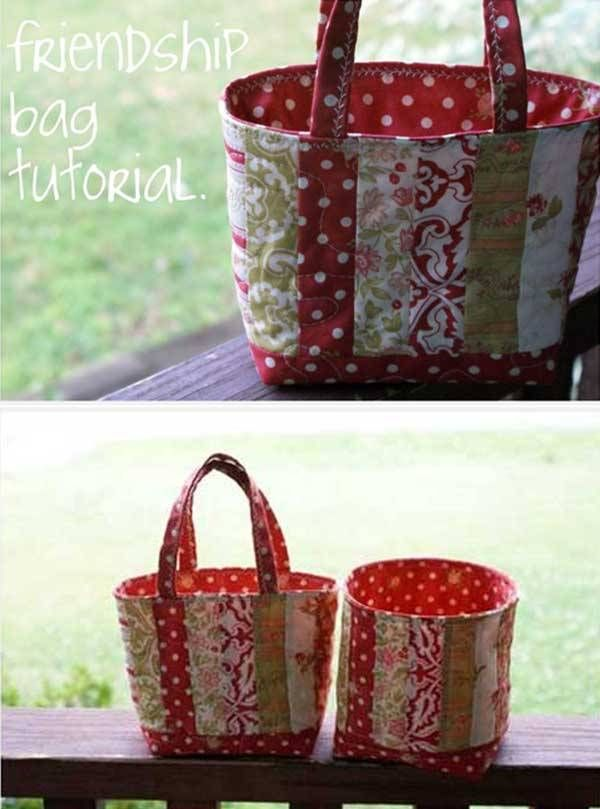 If you're looking for a quick gift for a quilting friend, this adorable friendship bag is just the thing. This bag is quick and easy to sew and can be made