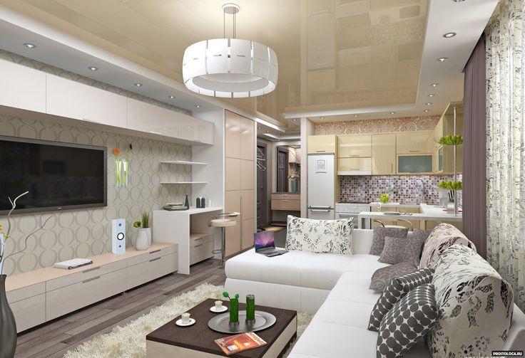 Дизайн студии 20-25 кв.м. с фото