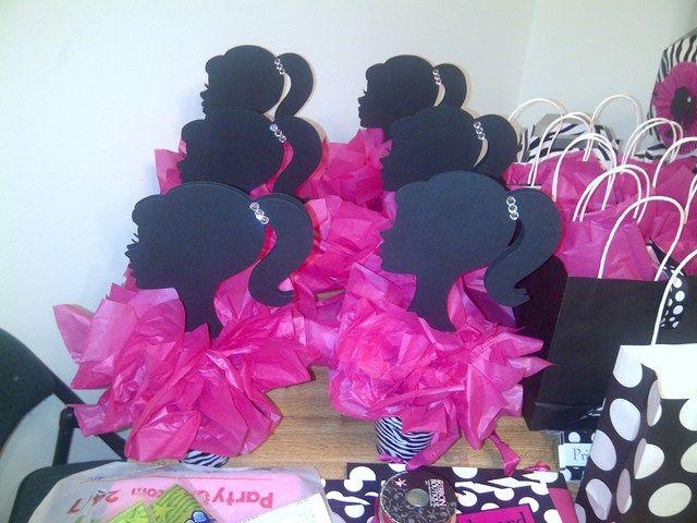 Handcrafted Barbie Centerpieces