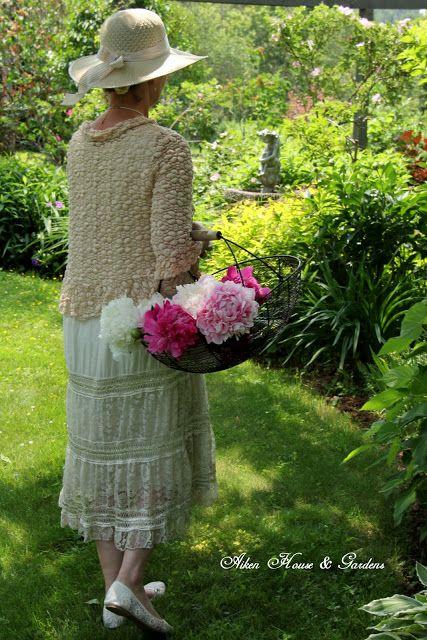 Aiken House & Gardens: Picking Peonies in the Garden