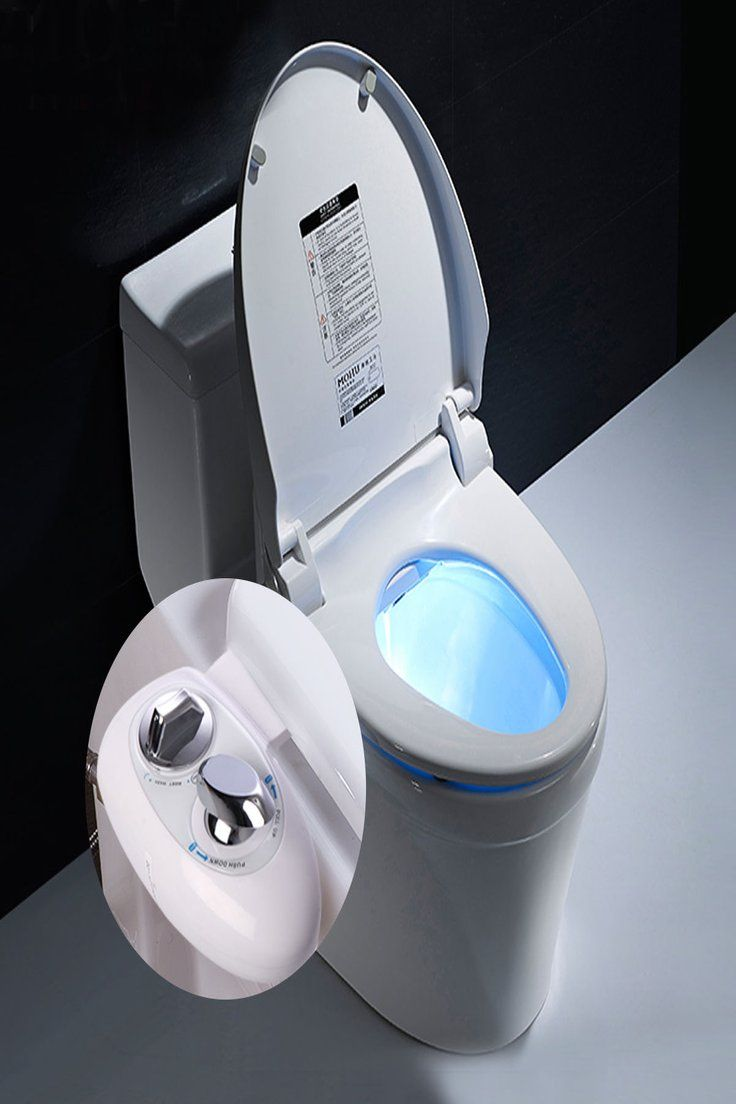 Non-Electric Mechanical Bidet Flash Water Toilet Seat Attachment Spray Bathroom