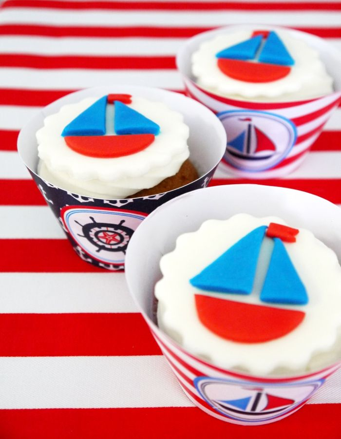 Cake it Pretty: Nautical Party - How To Make Edible, Sailboat Cupcake Toppers