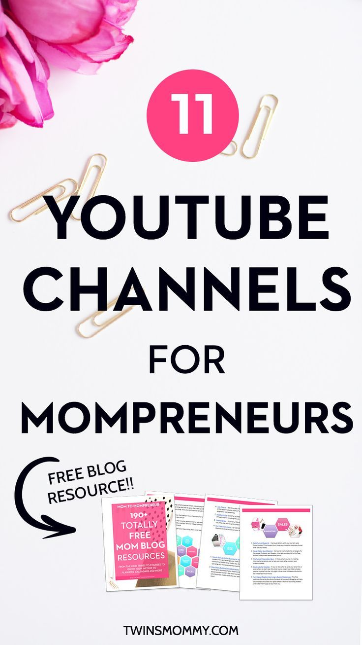 12 Days of Holiday Freebies: 11 YouTube Channels for Mompreneurs