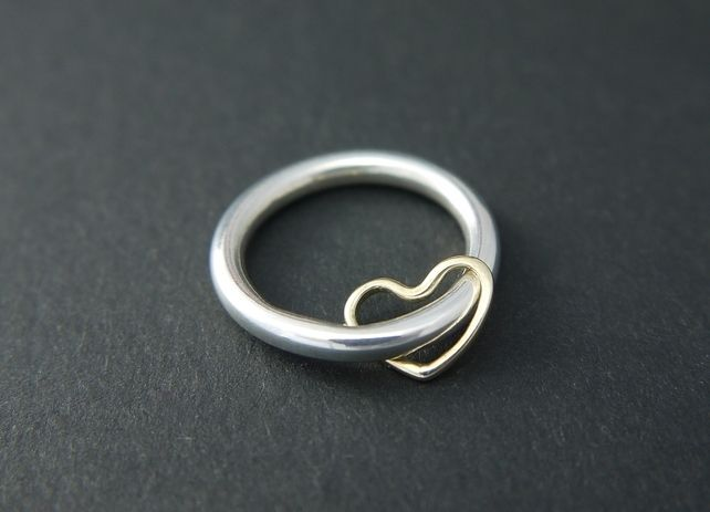 Make Your Gifts Special Life Silver Spinner Ring With Heart By MUKA Studio