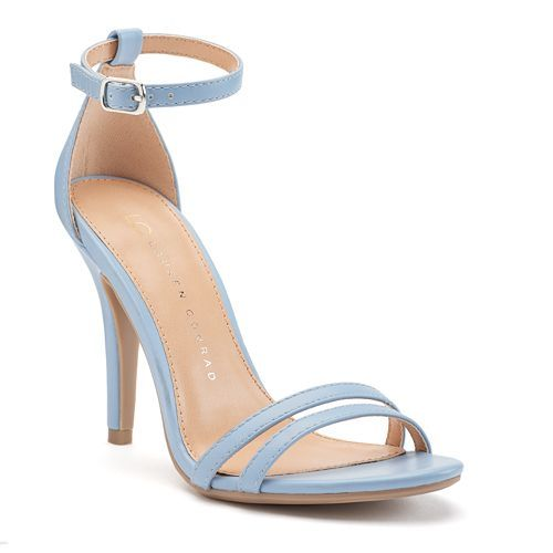 LC Lauren Conrad Runway Collection Ankle Strap Women's High Heels