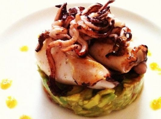 Squid with Garlic and Avocado at Restaurante El Cocinillas - Madrid, Spain