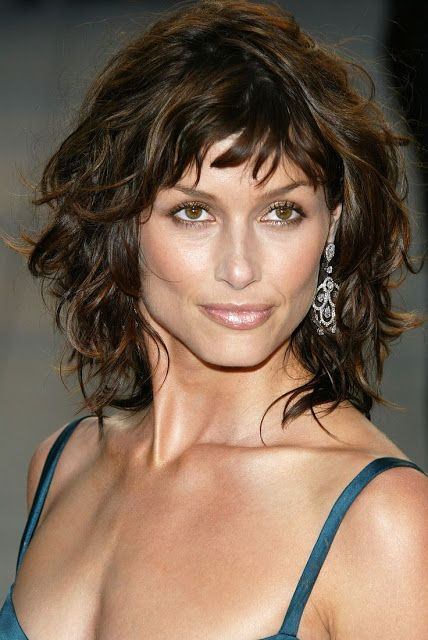 Bridget Moynahan's hairstyles! Oh, and guess what she just did! She got married wearing a gorgeous bridal hairstyle!