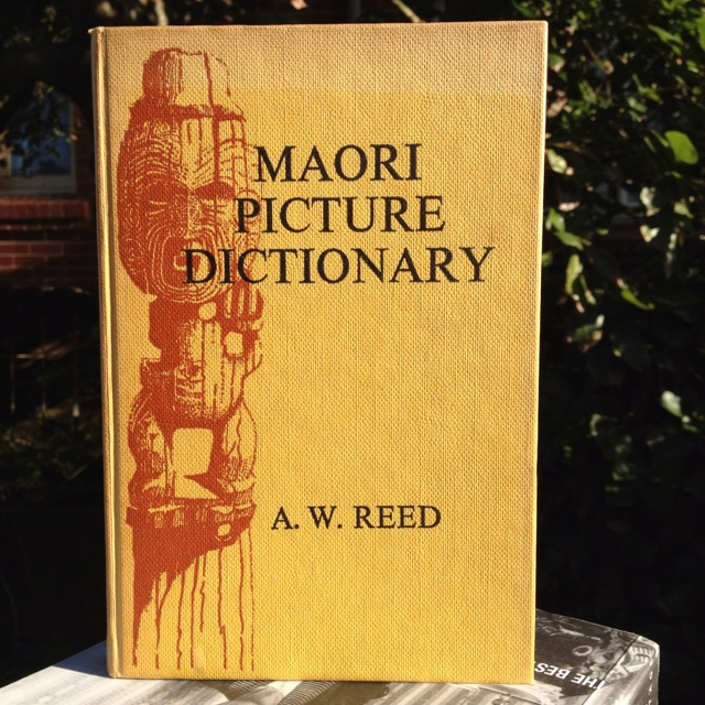 Cover of 'Maori Picture Dictionary', compiled by A. W. Reed, illustrated by Roger Hart, published by A. H. & A. W. Reed, 1965.