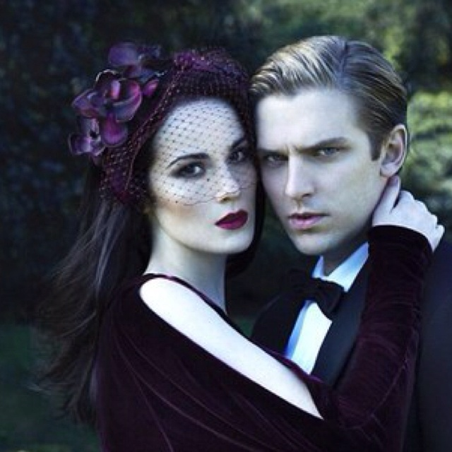 Mary Grantham & Matthew Crawley - smartly casted, the actress/actor is Michelle Dockery, and Dan Stevens